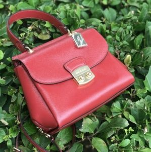 Coach Bags - Coach Small Patent Leather Avary Crossbody Bag Red